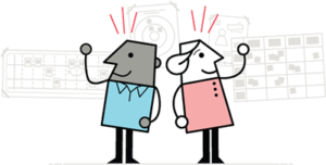 Two LUMAtic characters using Human-Centered Design methods.