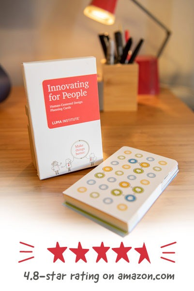 LUMA design thinking planning cards